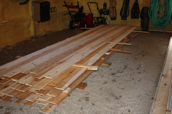 aw, the smell of new lumber! . . . .