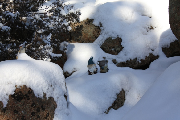 gnomes under the snow . . . .