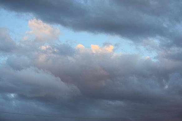 A storm brewing . . . .
