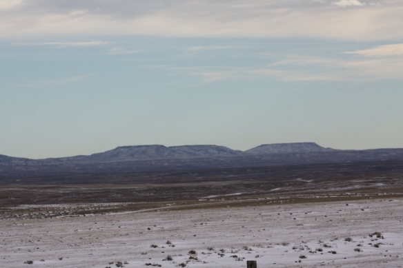 To the east, the Pumpkin Buttes . . . .