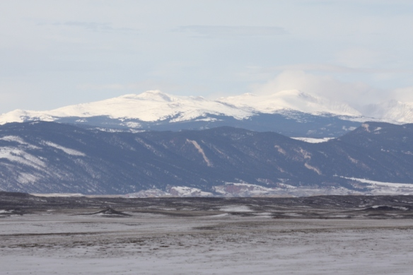 To the west, the Big Horn Mountains . . . .