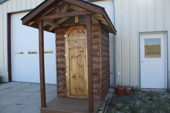 a  darn good outhouse . . . .