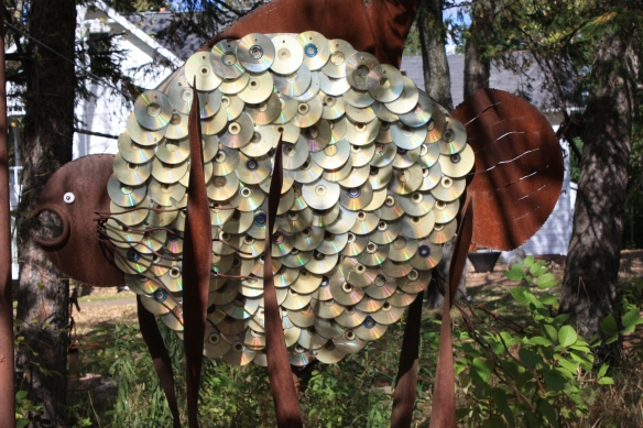 a use for all my old CD's . . . .