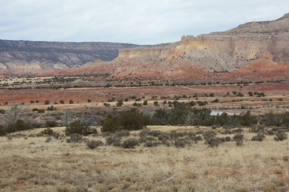 Red and yellow cliffs . . . .