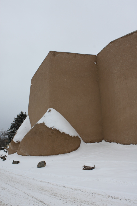 Adobe in snow . . . .