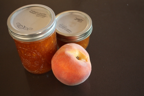 Peach goodness in a jar . . . .
