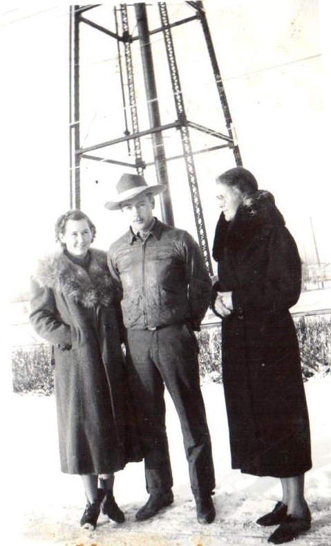 Nella, Jim and Clara Ullery circa 1938