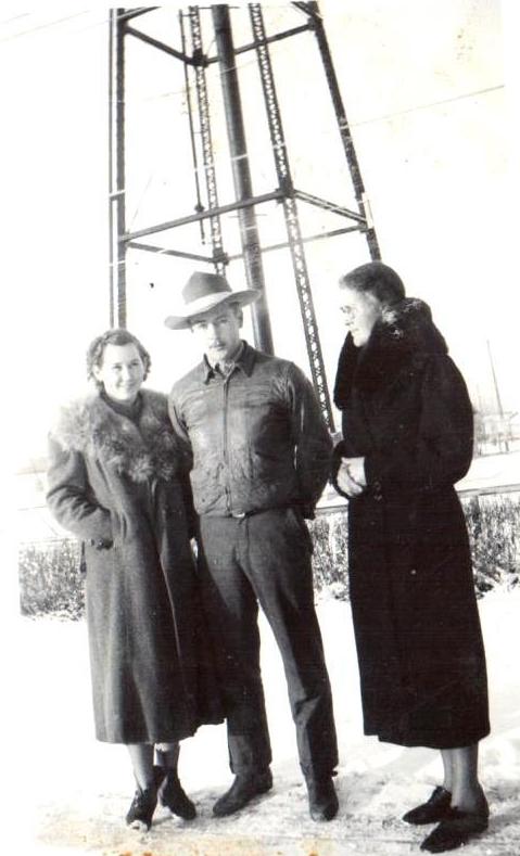 Nella, Jim and Clara Ullery circa 1938